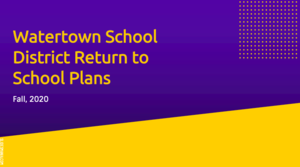 WSD Return to School Plan