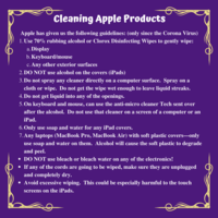 Cleaning Apple Products