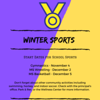 Winter Sports Start Dates